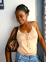 Black girl interracial gloryhole fuck & suck off