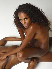 Hot ebony girl doing handjob