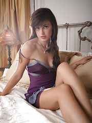 Erotic scene in purple dress from Autumn Riley
