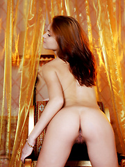 This spunky redhead is very passionate and she moves her tight petite body like a weapon.