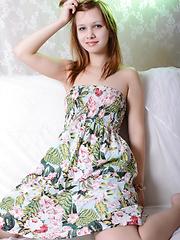 Cute ukrainian redhead shows her cute pussy