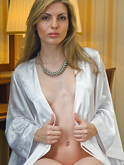 Nude russian babe at home