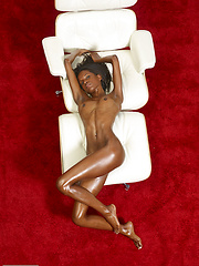 Black girl on the couch