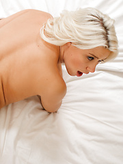 Anikka is blonde and hot and horny