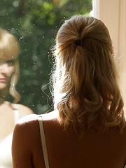 Blonde babe Charlise Bella sex art