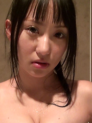 The more Reina rubbed her nipples the bigger her eyes became