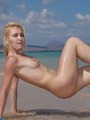Kristy on the beach