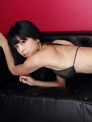 Sakura Sato Asian on high heels likes sitting with ass up in air