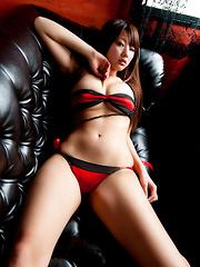 Sayuki Matsumoto Asian has a pefect to be slapped bum in panty