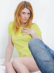Ginger babe enjoys getting her booty fucked