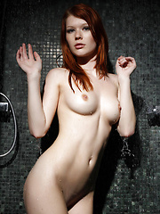 Showcasing her elegant beauty and   effortless allure, Mia Sollis gives her   super-hot body a refreshing shower and   takes time to strike some teasing poses   as the cool water trickles down her   irresistible details.