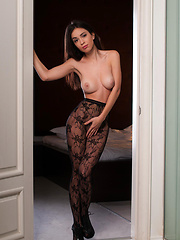 Vanda and Beatrice set the mood of   lustful desires and passionate affair as   they confidently flex and bend in front   of the camera to allow maximum view of   her best angles.