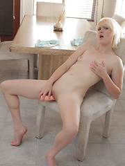 Horny amateur stuffs her tight pussy with a dildo