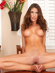 August Ames is the angel of your dreams as she finger fucks her tight asshole