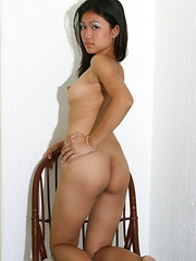 18 year old Christina strips and spreads to show her nubile assets