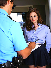 Hot little tight ass teen gets fucked by a big dick police officer in these hot teenie fucking pics and big cumshot movie