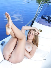 Sheela A may look sweet and innocent but she also has a naughty side, sunbathing naked all over the yacht by the river is one of her favorite things to do.
