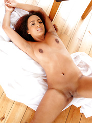Kayla Louise gives you the the ultimate sugar rush, with her curvy body and delicious chocolate complexion, puffy nipples, and a sweet, decadent ass.