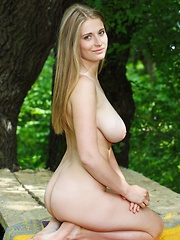 Sheela A turns a carefree picnic in the woods to a fun, private striptease performance in the outdoors, revealing her amazingly large and luscious mounds with perfect, puffy nipples, meaty butt, and shaved pussy.