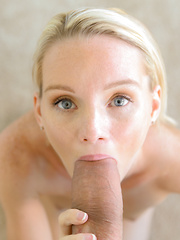 Tiny blonde takes the biggest dick of her life