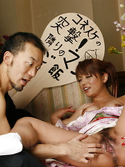 Sexy wife Kaede Moritaka gets nailed at home