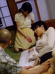 Teen Aoba Itou joins in threesome sex at home